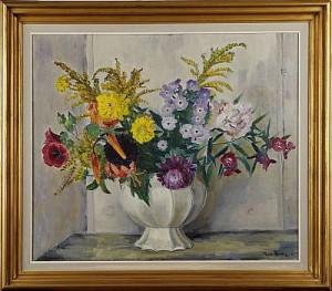 Blomsterstilleben by Ture ANDER