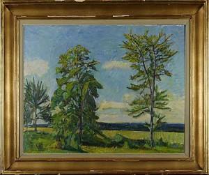 Grönskande Landskap by Gunnar SVENSON