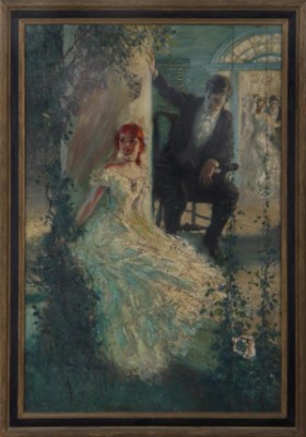 Man And Woman Outside A Party by John Harmon CASSEL