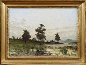 Insjölandskap by Arvid Mauritz LINDSTRÖM