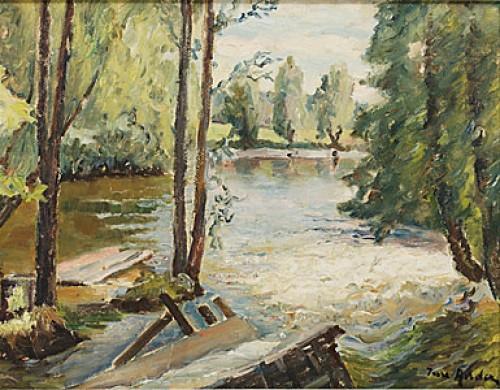 Landskap Med Vattendrag. by Ture ANDER