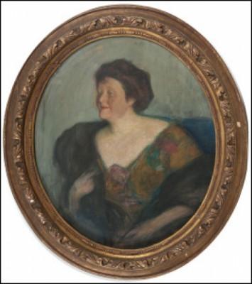 Portrait Of Mrs. O. Fränkel by Leonid Osipovich PASTERNAK