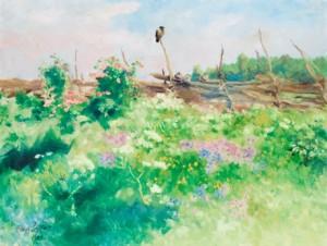 Fåglar Vid ängen by Bruno LILJEFORS