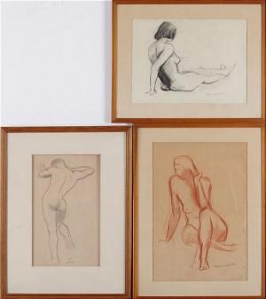 (3 St) Studier by Ragnvald 'Ragnvald M' MAGNUSSON