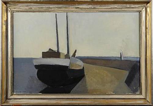 Skuta I Hamn - Ven by Gustav RUDBERG