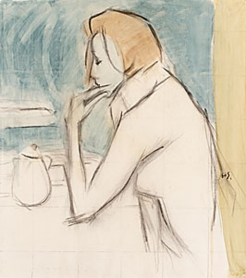 I Caféfönstret by Helene SCHJERFBECK