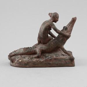 Kvinna På Krokodil by Otto STRANDMAN