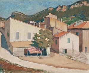 View From Southern France by Väinö BLOMSTEDT