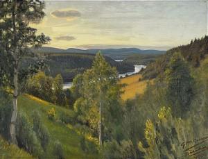 Utsikt Från Näsåker by Gustaf ANKARCRONA
