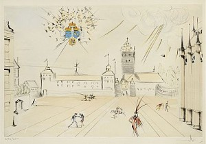 Stockholms Slott / The Royal Castle, Stockholm by Salvador DALI