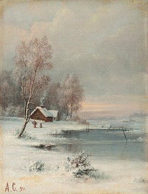 Coast During Winter by Alexei Kondratevich SAVRASOV