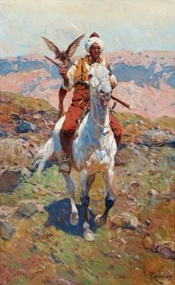 Falkenerare by Franz Alexeivich ROUBAUD