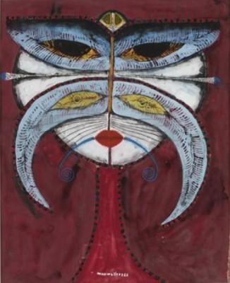 Kvinna Med Kattmask by Max Walter 'Max Walters' SVANBERG