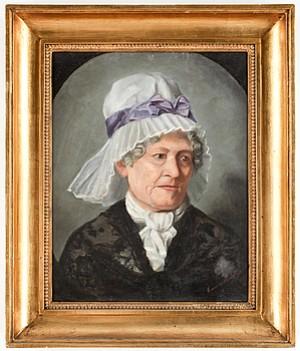 Porträtt Av äldre Dam by Emma LÖWSTÄDT-CHADWICK