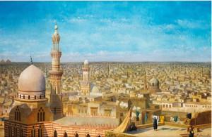 Blick über Die Ar Rifai Moschee In Kairo by Richard Karlovich ZOMMER