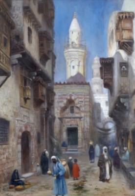 Gatuscen Från Bazar Khan Al Khalili, Kairo by Frans Wilhelm ODELMARK