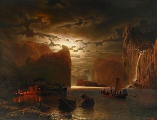 Månsken över Sognefjorden by Marcus LARSON
