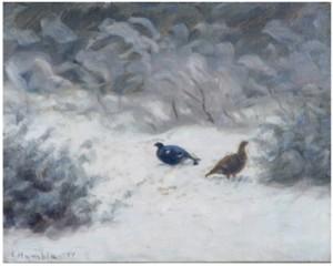 Orrar I Vinterlandskap by Ivan HUMBLA
