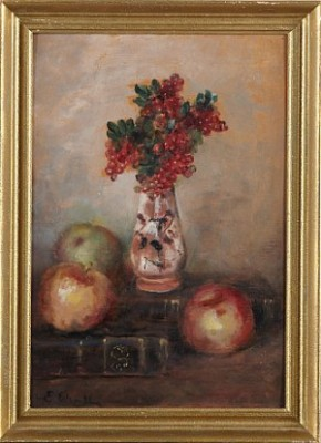 Stilleben Med äpplen by Emma EKWALL