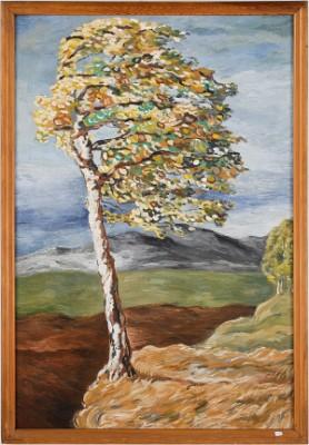 Vindpinat Träd by Göran BRUNIUS