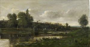 Flodlandskap by Charles Francois DAUBIGNY