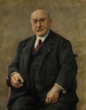 Bildnis Der Berliner Regierungsbaumeisters Und Baurats Adolf Schiller by Max LIEBERMANN