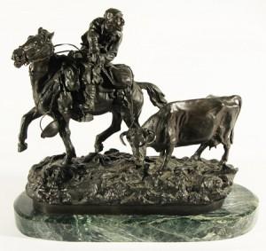 Hunter On A Horse by Vasili Yakovlevich GRATCHEV
