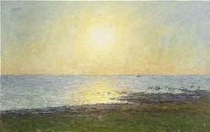 Solnedgång över öländskt Landskap by Per EKSTRÖM