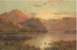 Highland Sunset; View Of Llyn Gwynant, North Wales; Snowdon From Capel Curig Lake, N. Wales by Francis E JAMIESON