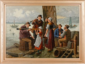 Sällskap På Kaj by F. Wilhelm GIESSEL