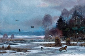 Fox And Crows by Lindorm LILJEFORS