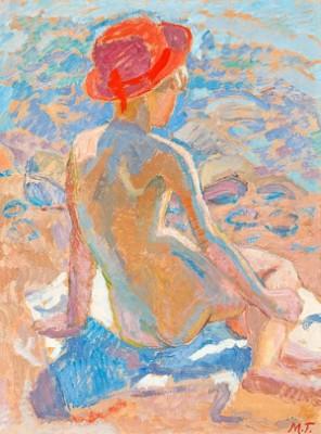 Flicka Med Röd Hatt by Mollie FAUSTMAN