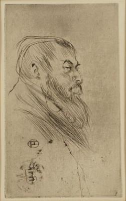 Tristan Bernard by Henri De TOULOUSE-LAUTREC