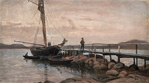 Boats At The Jetty by Berndt LINDHOLM