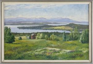 Sommarhagen På Frösön Mot Oviksfjällen by Paul JONZE
