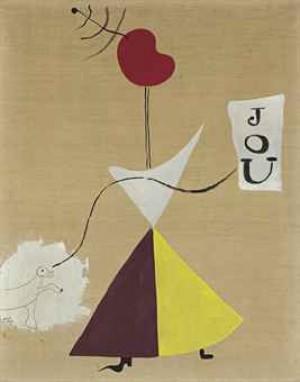 Peinture (femme, Journal, Chien) by Joan MIRO