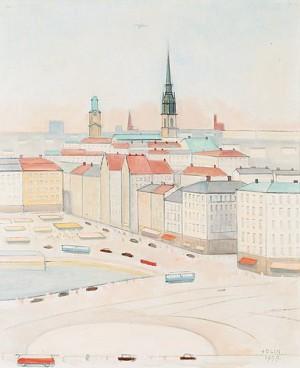 Utsikt över Kornhamnstorg Och Gamla Stan by Einar JOLIN
