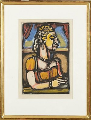 Dame A La Huppe by Georges ROUAULT
