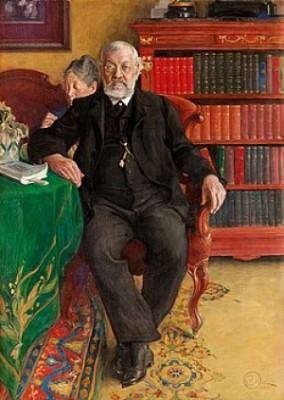 Porträtt Av Grosshandlare Wilhelm Och Fru Emelie Josephson by Carl LARSSON