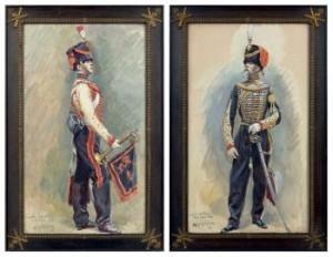 Colonel D'artillerie De La Garde 1856; Trompette D'artillerie De La Garde 1856; Dragon De La Garde by Alphonse LALAUZE
