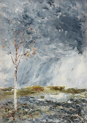 Björken I (höst) by August STRINDBERG