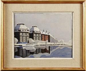 Strandvägen I Snö by Jürgen Von KONOW