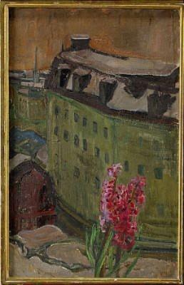 Stockholmsutsikt Med Hyacint by Vera NILSSON