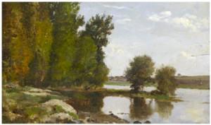 Insjö Med Skogsdunge Och Bondgård by Louis Aime JAPY