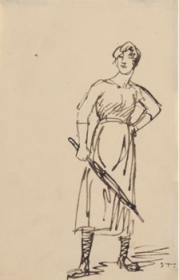 Woman With Umbrella by Théophile Alexandre STEINLEN