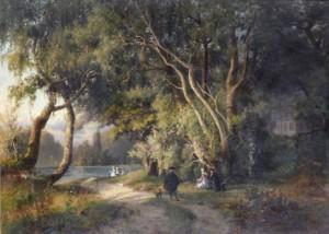 Rastande Rokokosällskap by Alfred WAHLBERG