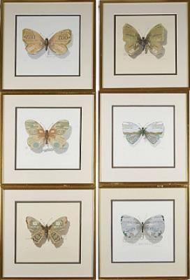 6 St Motiv Med Fjärilar by Bengt BÖCKMAN