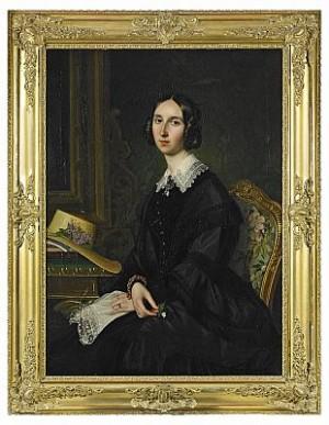 Porträtt Av Friherrinnan Maria Helena Arfwedson (1817-1851), 1848, Painted By Olof Johan Södermark And Per Södermark by Per SÖDERMARK