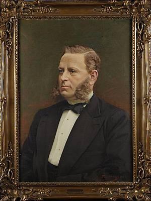 Porträtt Av E.g. Edelfelt by Nils The Elder FORSBERG