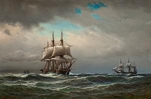Fartyg På öppet Hav by Anton MELBYE